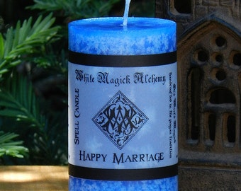 HAPPY MARRIAGE Spell Candle 2x3 Pillar