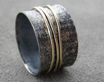 Spinner - Sterling Silver Gold Fill