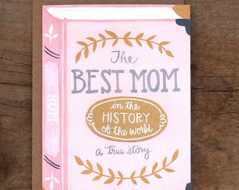 Best Mom Illustrated Card