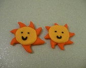 Miniature Polymer Clay Sun Magnets