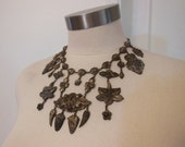 30s necklace / Big Ornate Vintage 1930's Chinese Bib Necklace