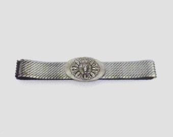 1980s belt / vintage 80s belt / metal / OSFM / Den of the Lion Silver Scales Belt