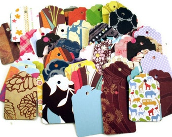 100 Tags Gift Tags Price Tags  Bulk Package  in  Funky Mix