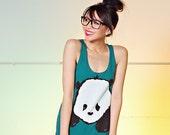 Baby Panda Women's Racerback Tank Top - Tri-Evergreen - Women's Sizes S, M, L