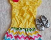 Spring Multi-colored Chevron Skirt Easter Skirt