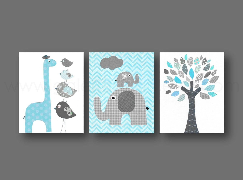 baby boy nursery wall art nursery decor baby by galerieanais. Black Bedroom Furniture Sets. Home Design Ideas