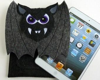 Vampire bat iPad mini 1, 2, 3, 4 sleeve - Felt shoulder bag - iPad mini case
