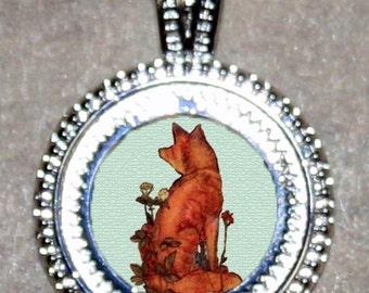 Red Fox William Morris Pendant