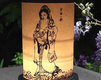 Candle Holder-Shoji Lantern-new mother gift-KuanYin-Quan Yin-Goddess-Compassion-Mother Earth-Kannon-Shakti-Tara-Shrine-Shrine Lighting