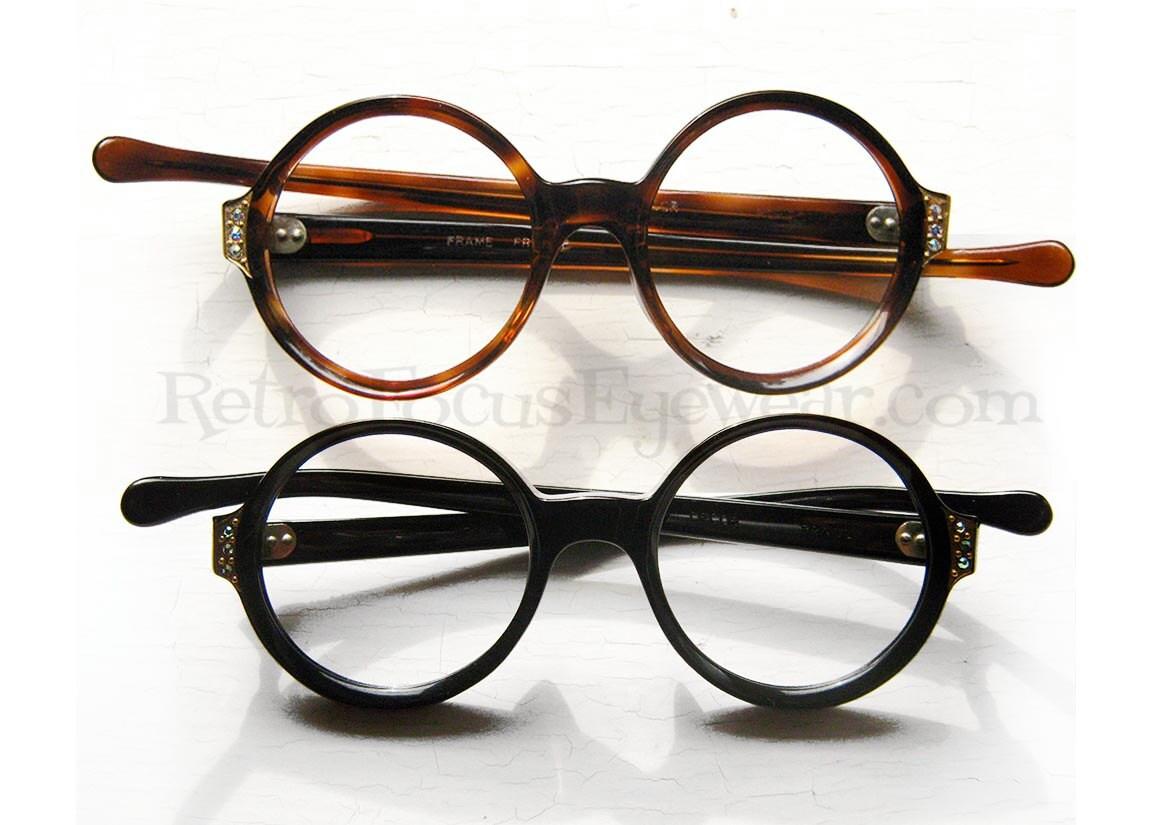 Glasses Frame In French : French Rhinestone Eyeglass Frames Vintage 1960s Eyewear
