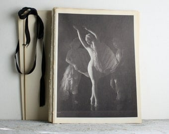 Vintage Ballerina Print - Book Plate -  Nini Theilade - Bacchanale - Ballet Dance Photograph