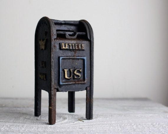 Vintage Cast Iron Mailbox Bank By Shavingkitvintage On Etsy