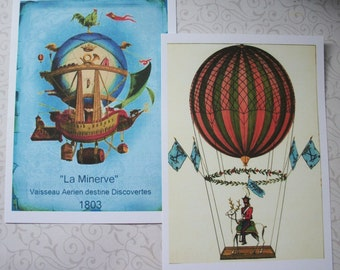 HOT AiR BALLOONS - WaLL ArT - choice of sizes - set of 8 - Click on All Photos - Whimsical, Delightful - HAB 556678
