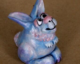 Cotton Candy Coloured Bunny, Fantasy Cartoonish Rabbit
