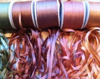 Vintage Rose 7mm 25 yard combo ribbon pack