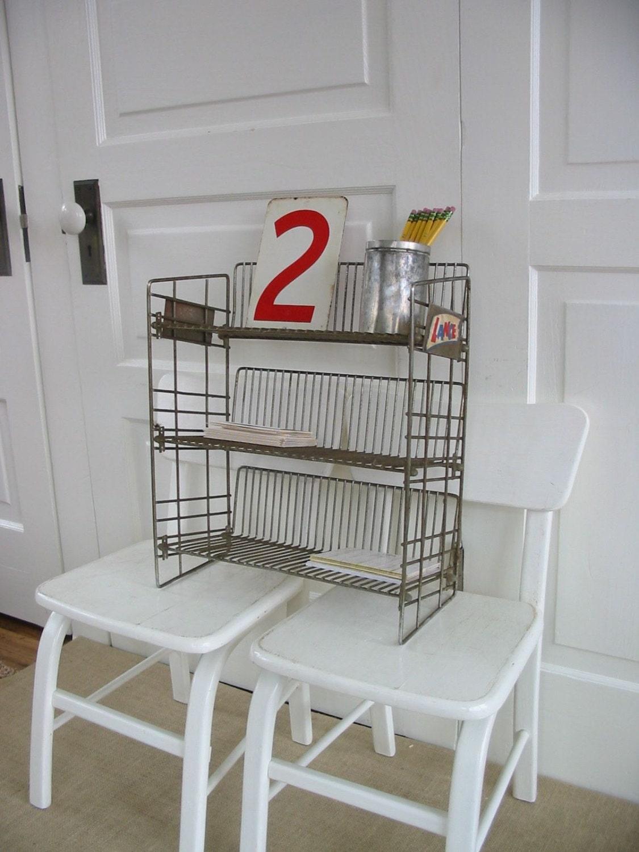 Vintage Wire Metal Shelf Rack Store Display Lance Candy