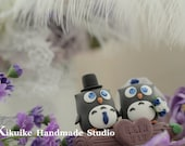 Owls with branch cake topper---k520
