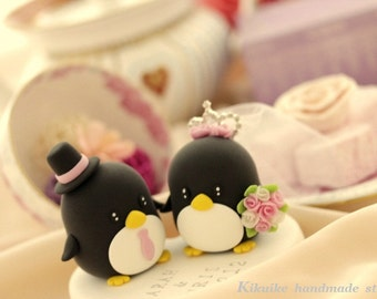 Penguins wedding cake topper (K424)