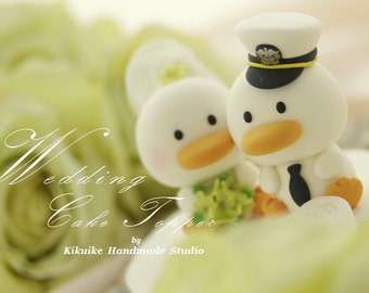 ducks  Wedding Cake Topper -Handmade love  ducks cake topper---k732