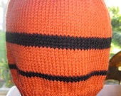 GO Giants!  Organic cotton and wool beanie