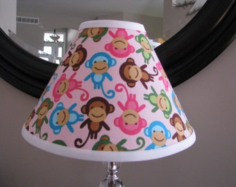 Urban Zoologie Pink Monkey Lamp shade