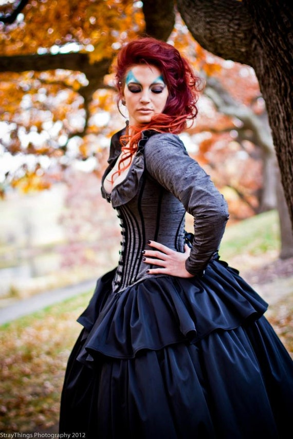 Alternative Wedding Gown Steampunk Corset Jacket Dress Custom