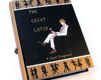 Secret compartment box, hollow book - The Great Gatsby 2.0 wooden hideaway book box.  Hidden drawer.