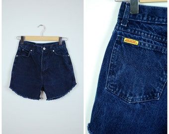 Vintage 70's JORDACHE cut off jean shorts / HIGH WAISTED jean shorts