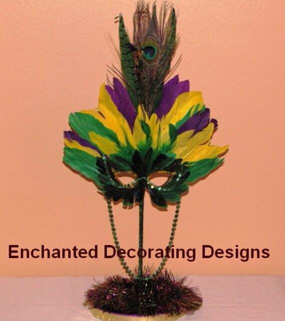 Mardi Gras Wedding Ideas: Mardi Gras Wedding Theme Decoration Centerpiece By