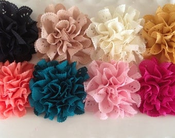 FLOWERS-Eyelet-Your CHOICE of SIX----3 inches wide