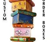 Custom Listing - Pre order -  Mixed Media  Box -  Folk Art  by FLOR LARIOS