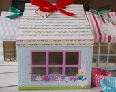 cupcakes box,cupcake house,cupcake package-can contain 4 large cupcakes-rabit design