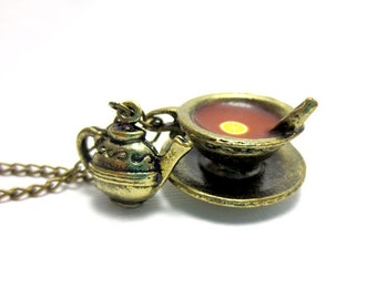 Vintage Bergamot Tea Necklace