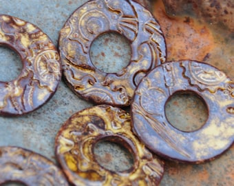 Copper Steampunk Washer Bead