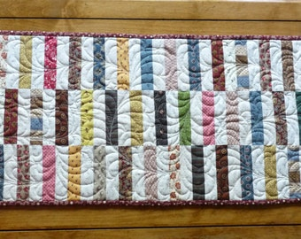Quilted Scrappy Table Runner