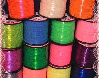 30 YDs Rexlace Gimp Plastic Lace - Glow and Clear - 2 Yds Each Color - Hair Falls, Jewelry, Lanyards, or Bird Toys