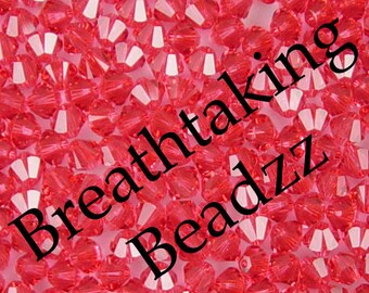 CLEARANCE Swarovski Beads Crystal Bead 24 6mm Padparadscha Bicone 5328 Many Colors In Stock,os