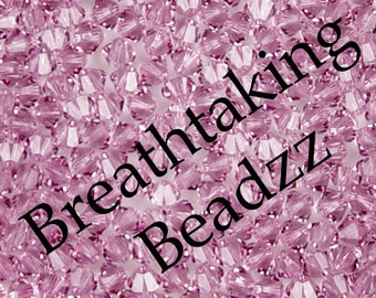 CLEARANCE Swarovski Beads Crystal Bead 50 Light Amethyst 4mm Bicone 5328 Many Colors In Stock,os