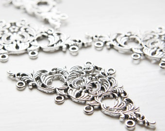 4pcs Oxidized Silver Tone Base Metal Links - 30x68mm (19278Y-D-406)