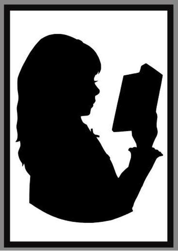 Reading Silhouette Reading child, single Children Reading Silhouette