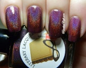 If It Pleases You - Deep Plum Holographic Nail Polish