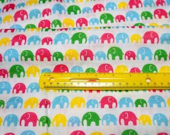 Double gauze fabric colorful elephant (n451)