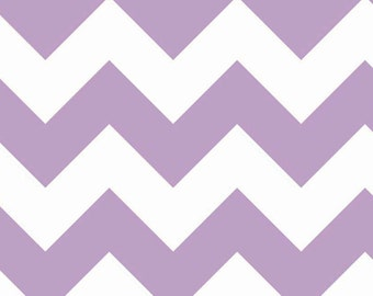 One (1) Yard -Riley Blake Large Sized Chevrons Fabric C330-120 Lavender