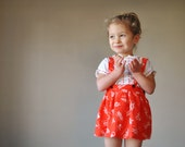 ON RESERVE.....1940s Knot print Skirt, size 6-18 months