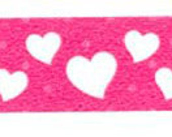 Pink Hearts Washi Tape, Japanese Masking,Tokyo Edge