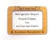 Alaskan Malamute Dog Magnet Picture Frame