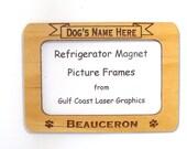 Beauceron Dog Magnet Picture Frame