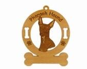 3707 Pharaoh Hound Head Personalized Dog Ornament