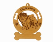 2138 Chow Standing Personalized Dog Ornament
