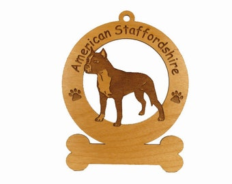 1257 American Staffordshire Personalized Ornament